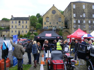 Sowerby Bridge canal wharf area show May 2014