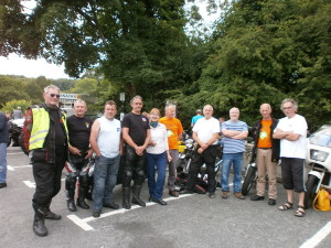 At Devils Bridge in the sunshine - Ride out 20/7/13
