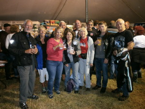 15 branch members attended the Norton Festival in Devon over the weekend of the1st to 3rd August, the beer tent proved popular!
