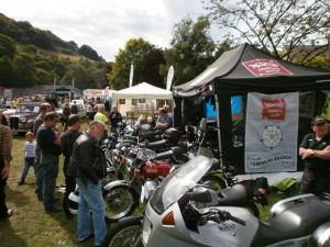 Hebden Bridge Show August 2015, 13 bikes attended the event.