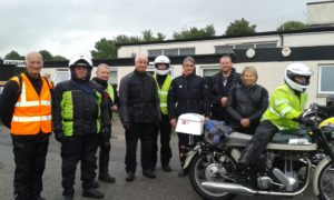 Yorkshire and East Yorkshire branch members getting ready for the ride out to RGM Motors and the Hard Nott Pass challenge!