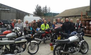 13 bikes attended the ride out, the first stop being at the Manor Café at Belleby