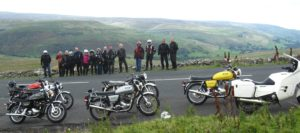 Norton's on display at Buttertubs Pass (The highest road in the Yorkshire Dales).